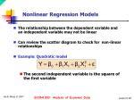 nonlinear regression models