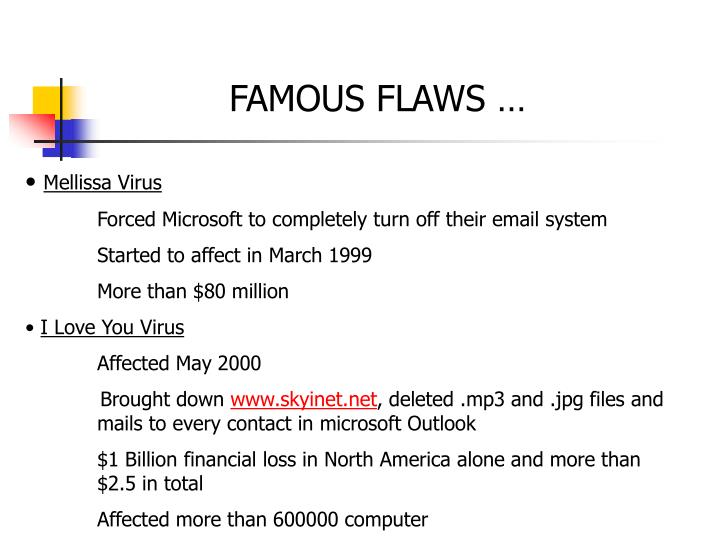 FAMOUS FLAWS …