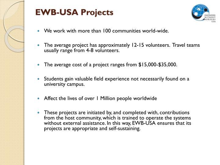 EWB-USA Projects