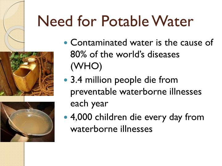 Need for Potable Water