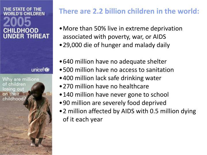There are 2.2 billion children in the world:
