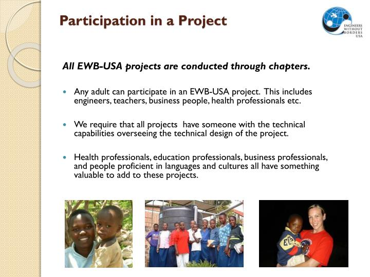 Participation in a Project