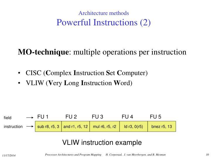 Architecture methods