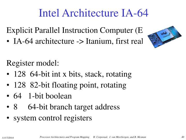 Intel Architecture IA-64