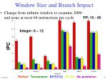 window size and branch impact