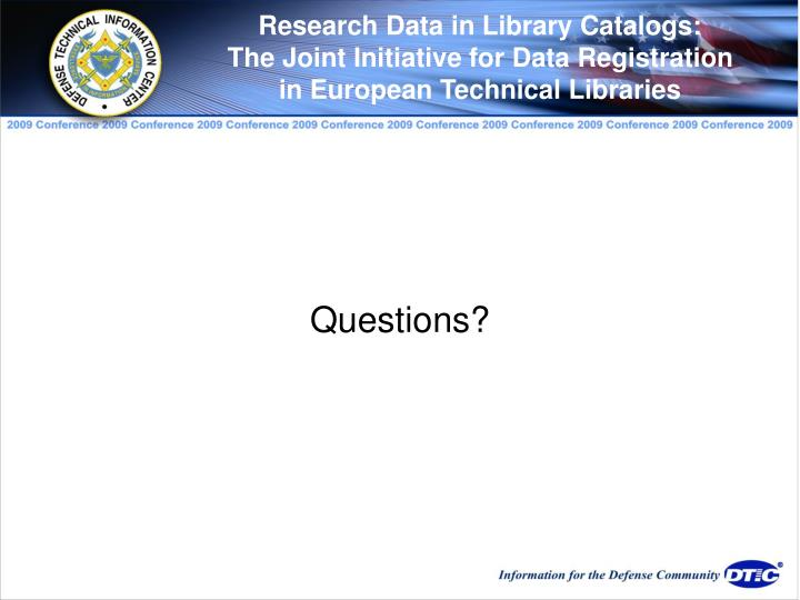 Research Data in Library Catalogs:
