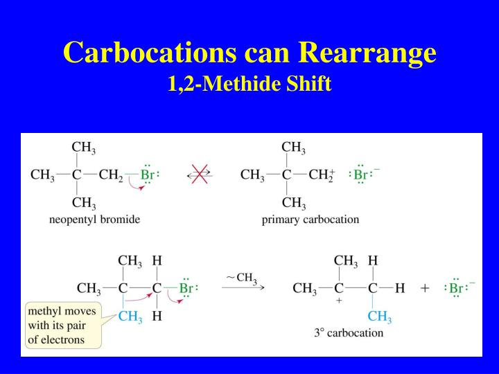 Carbocations can Rearrange