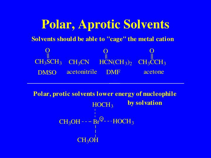 Polar, Aprotic Solvents