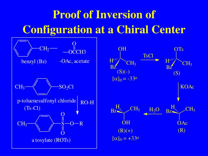 Proof of Inversion of Configuration at a Chiral Center