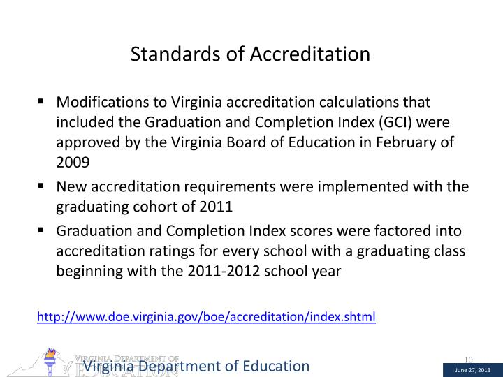 Standards of Accreditation