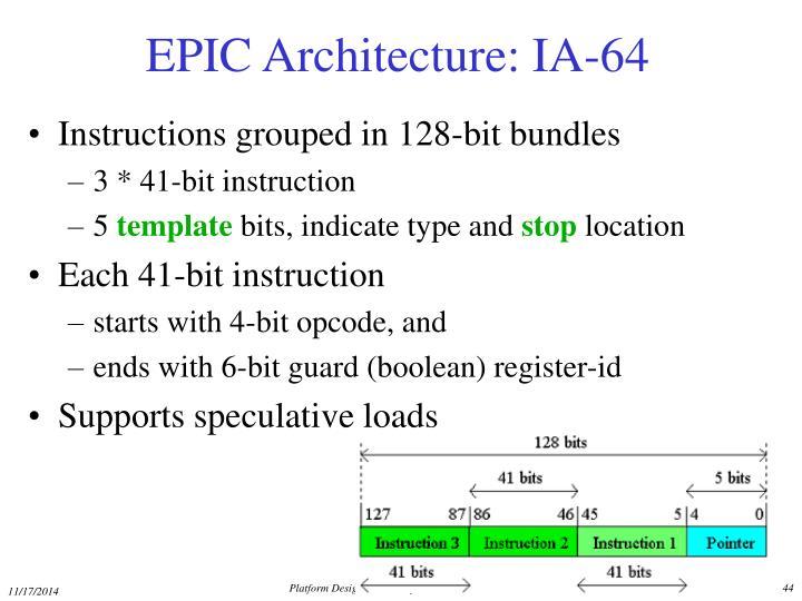 EPIC Architecture: IA-64