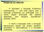 projeto de lei 1603 96