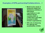 examples of epn partnership collaborations 1