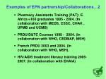 examples of epn partnership collaborations 2