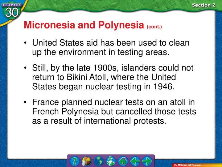 Micronesia and Polynesia