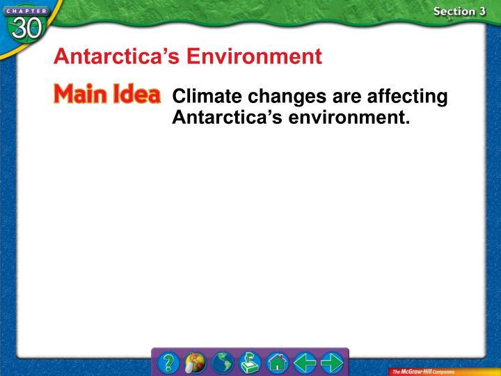 Antarctica's Environment