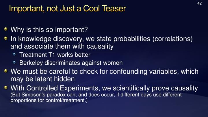 Important, not Just a Cool Teaser