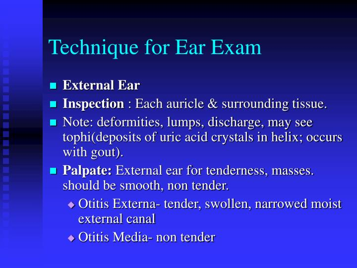 Technique for Ear Exam