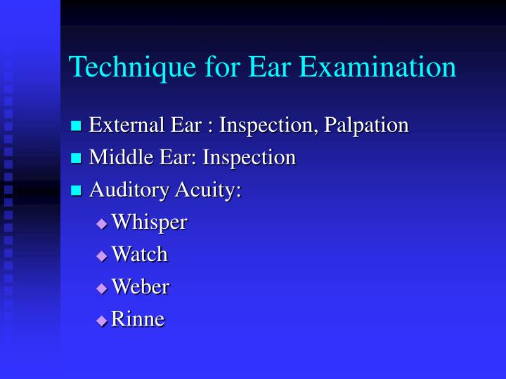 Technique for Ear Examination