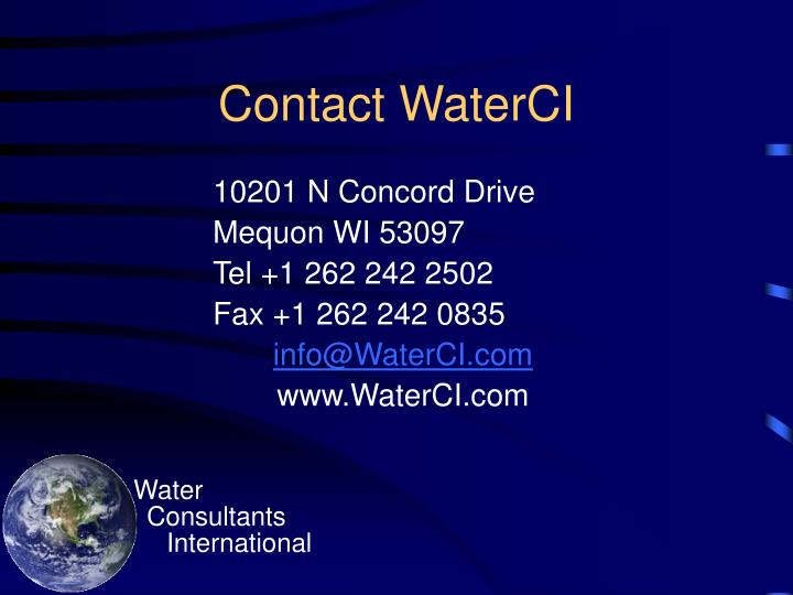 Contact WaterCI