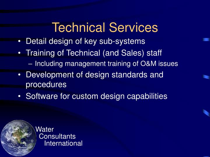 Technical services1