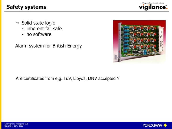 Safety systems