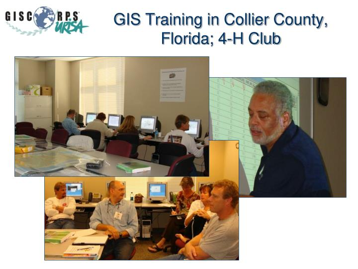 GIS Training in Collier County, Florida; 4-H Club