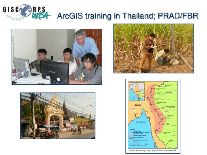 ArcGIS training in Thailand; PRAD/FBR