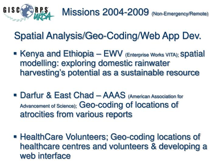 Missions 2004-2009