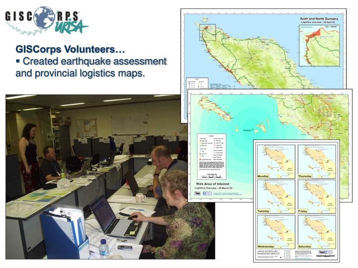 GISCorps Volunteers…