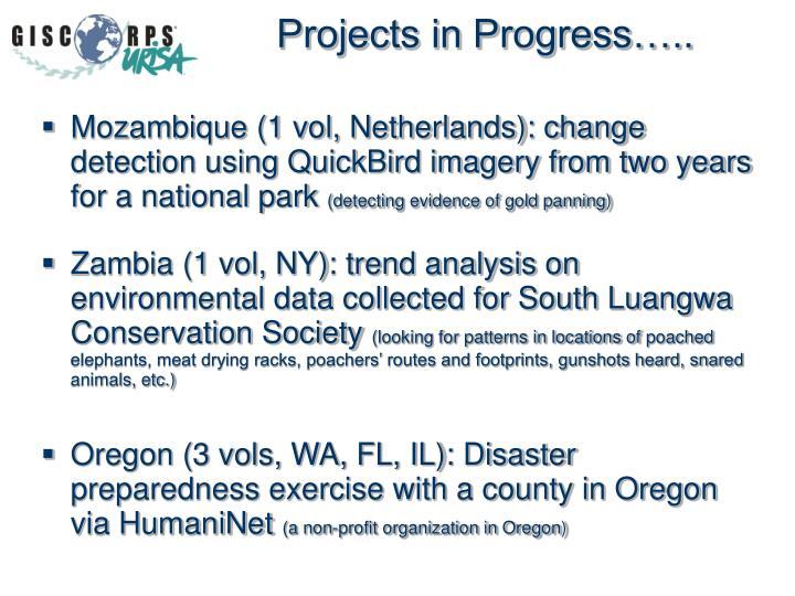 Projects in Progress…..
