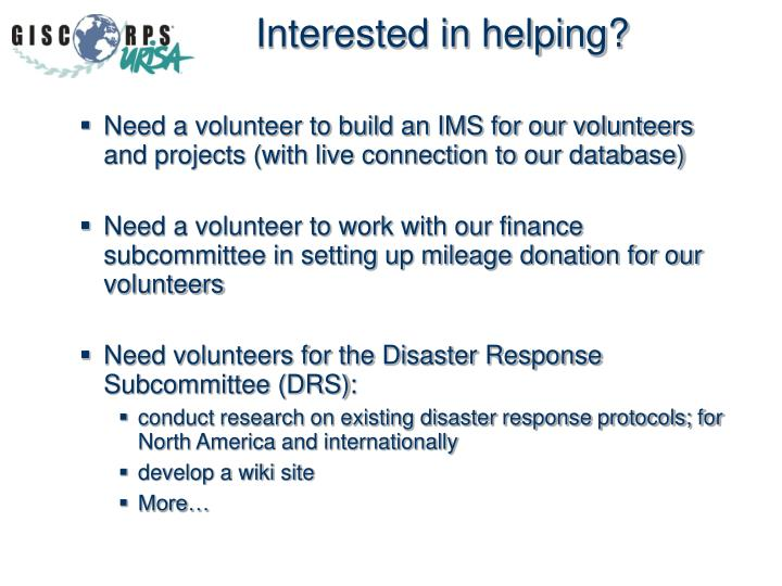 Interested in helping?