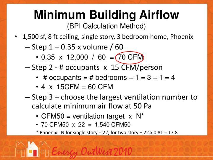 Minimum Building Airflow