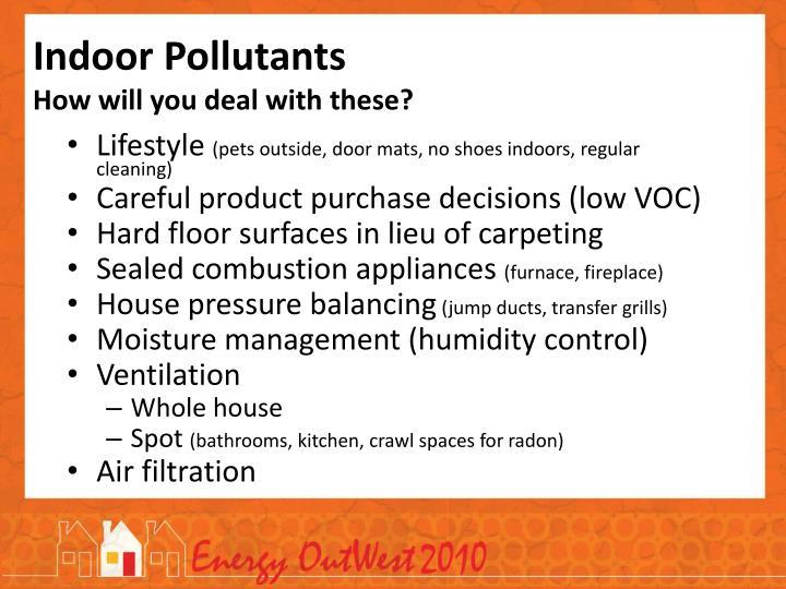 Indoor Pollutants