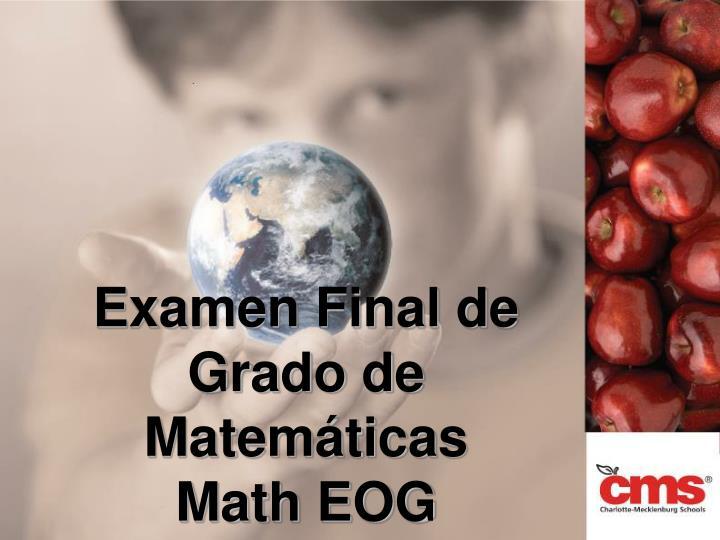 Examen Final de Grado de
