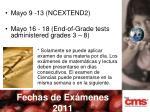 fechas de ex menes 2011