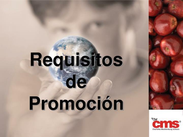 Requisitos de Promoción