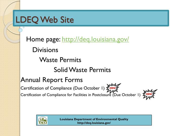 LDEQ Web Site