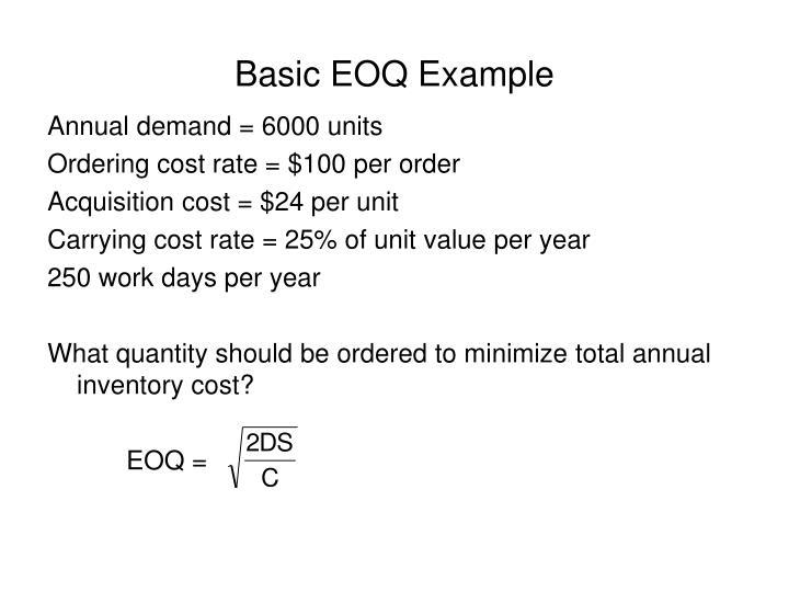 Basic EOQ Example