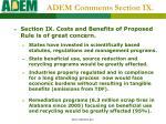 adem comments section ix