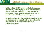 adem comments to docket1