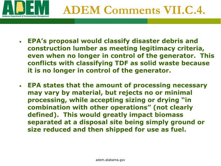 ADEM Comments VII.C.4.