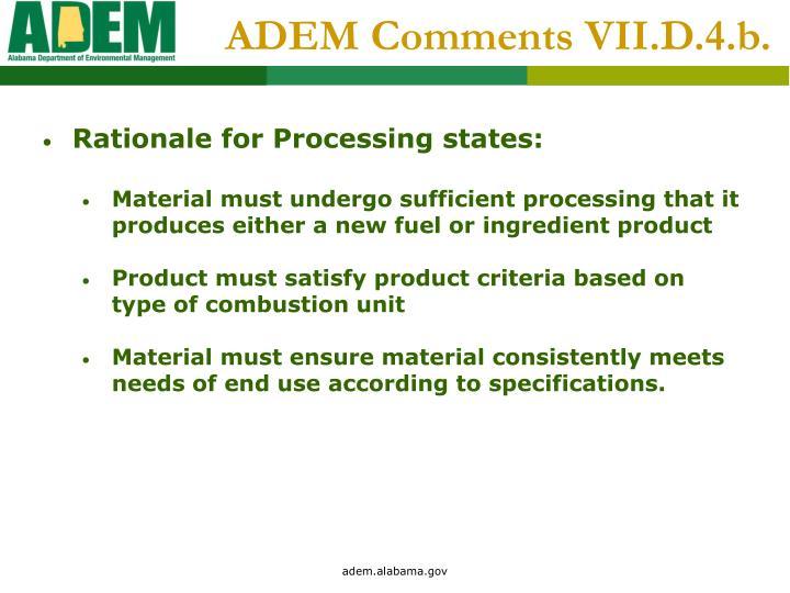 ADEM Comments VII.D.4.b.