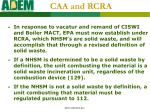 caa and rcra