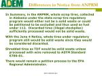 differences in notice from anprm2