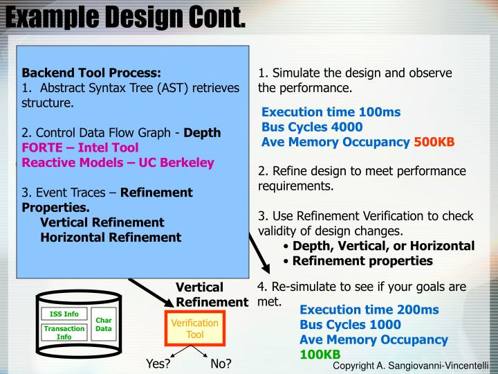 Example Design Cont.