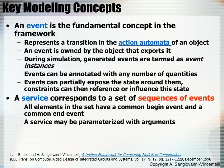 Key Modeling Concepts