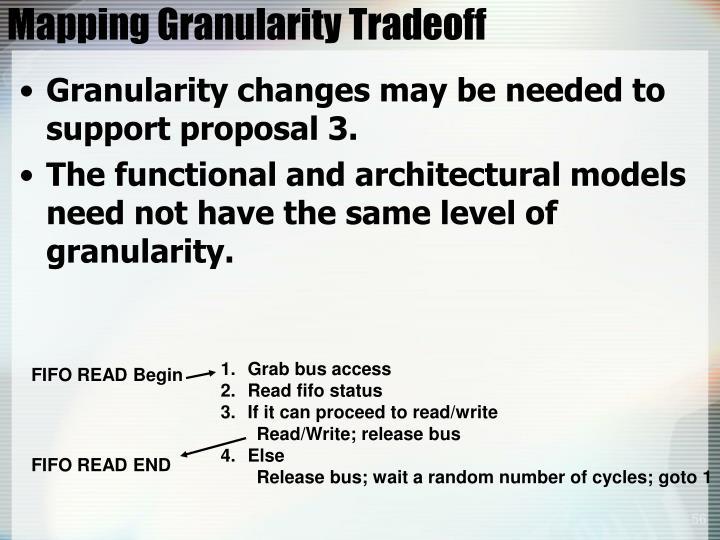 Mapping Granularity Tradeoff
