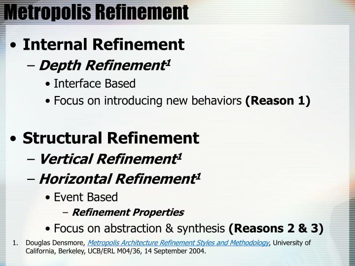 Metropolis Refinement