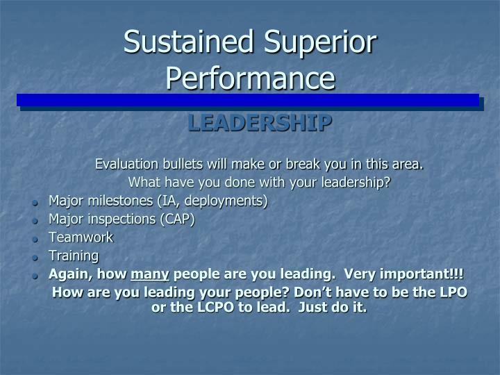 Sustained Superior